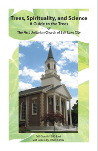 The pamphlet cover featuring an image of a church.